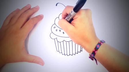 儿童简笔画:如何绘制松饼_逐步绘制松饼 简笔画教学视频