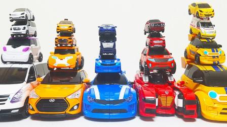 机械面包车跑车迷你汽车变形酷炫机器人玩具