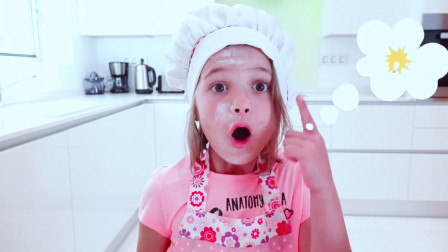 可爱萌宝:俩萌宝第一次为父亲做生日蛋糕,过程似乎有些曲折,不知道结果咋样