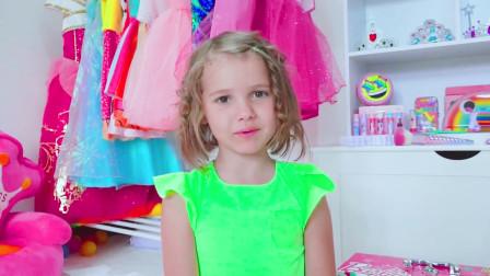 可爱萌宝:萌宝课堂开课了,小萌宝们教你如何在最短时间,把自己打造成一个时尚达人