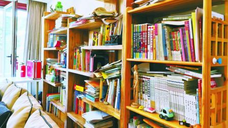 9岁男孩存书5000多本, 妈妈把家打造成共享书房