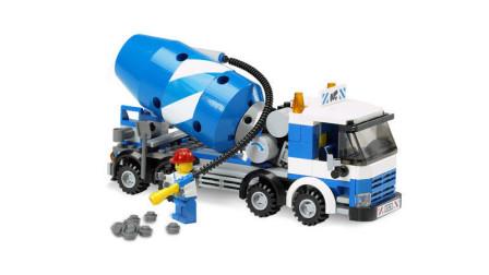 LEGO乐高积木玩具城市系列7990水泥搅拌车套装速拼
