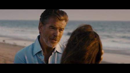 丈夫去海边找到妻子,两人两眼放光,甜蜜热吻不停息