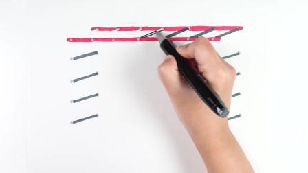 简笔画画一个玩吊篮的小猪佩奇