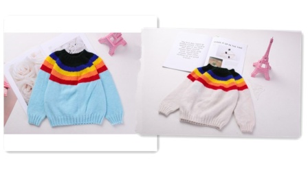 【昭尔茹悦】第88集 【彩虹衣】简单的下针无需缝合编织圆领毛衣