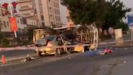 广东潮州一小车与道路清洁车碰撞 小车驾乘人4死1伤