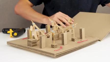 手工制作纸质机械变换数字