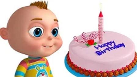 卡曼动画:男孩生日蛋糕,蜡烛怎么都吹不灭