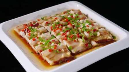 北风起腊肉香,这道老豆腐蒸腊肉简单又美味