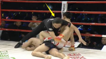 18战14胜强敌一个回合不到就被19岁中国小将KO了,裁判都看怕了