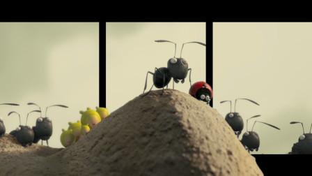 裸眼3d:《昆虫总动员》红蚂蚁想白嫖黑蚂蚁的劳动成果,竟不惜发起大战