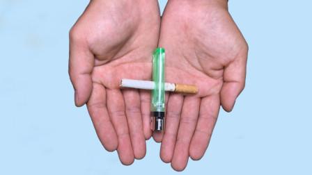 香烟直接从打火机中间穿透,打火机却没有洞?学会餐桌上就能表演