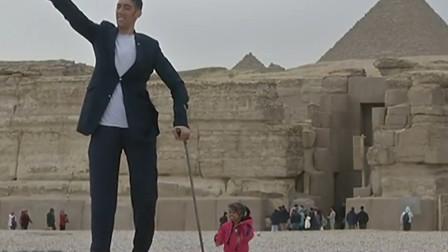 世界上最高的男人和最矮的女人罕见同框!网友:结果大开眼界