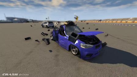 BeamNG模拟汽车卡车碰撞摧毁