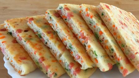 营养早餐饼最简单做法,筷子搅一搅,鲜嫩美味又节省时间