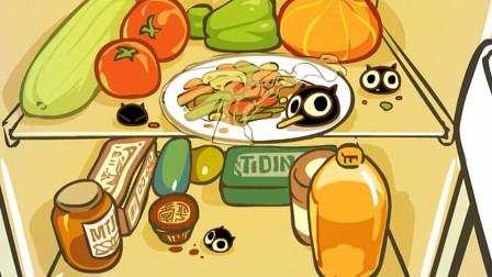 罗小黑战记:冰箱里出现了奇怪的猫球,竟然在偷吃食物,好可爱呀