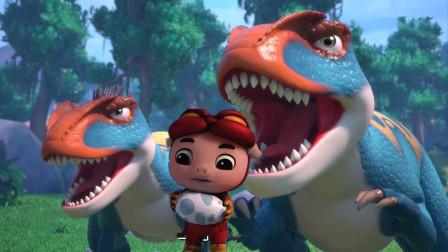 猪猪侠进入恐龙时代遇到霸王龙波比救援怎么办?