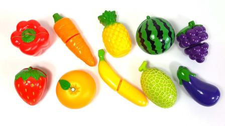 儿童益智趣味智力开发:让我们一起来认识水果蔬菜吧!