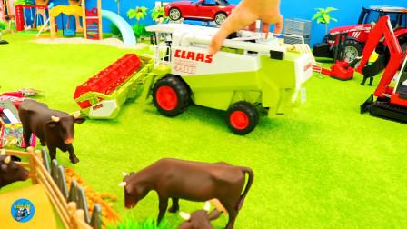 惯性农场, 拖车洒水车,好几辆四轮拖车头,儿童玩具亲子互动