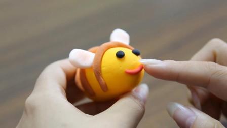 超轻粘土手工制作一只小蜜蜂,简单又好做!