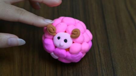 超轻粘土手工制作一只粉嫩的小羊,可爱有简单!