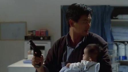 《周润发影视合集》《辣手神探》铁汉柔情,周润发冒险救婴儿中枪
