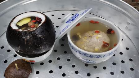 """广东隔水炖汤""""乌鸡炖椰子汤""""做法正宗,爱喝汤的欢迎收藏"""
