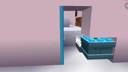 迷你世界:小小挑战三人解密,谁料一头跳进了蛋糕堆里,这得变多胖啊