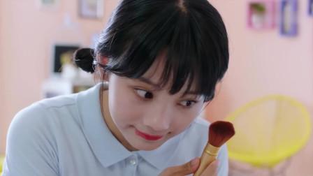 满满喜欢你:顾小满为散伙饭精心打扮的寿桃妆,太可爱了吧!