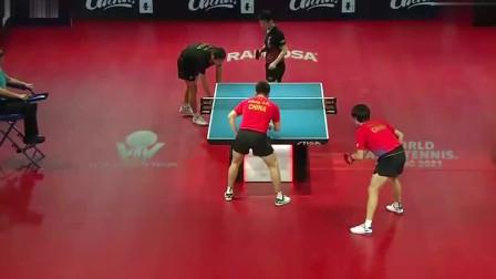 乒乓球:决胜局许昕、樊振东加强进攻火力,击败了梁靖崑、林高远夺得冠军