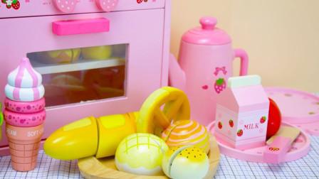 儿童亲子DIY益智玩具故事:一起来制作可口美味的食物吧!