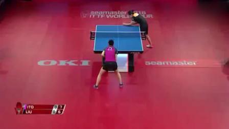 女单刘诗雯vs伊藤美城,这场比赛看着真是精彩呀!