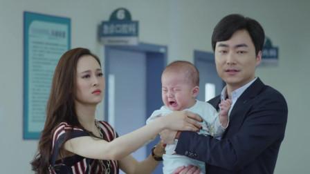 程有信带儿子看病 碰巧遇到了吴毅和小三抱着孩子看病
