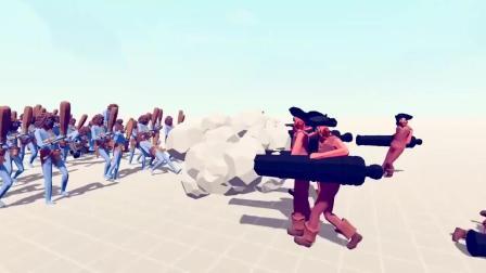 全面战争模拟器:端着加农炮打架,这个兵种很搞笑