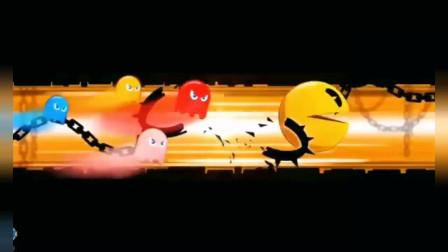 吃豆人游戏:吃豆人变大西瓜,这次蜘蛛侠没辙了吧?