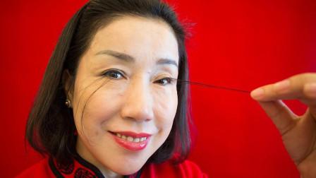 """女子被誉现实版""""花仙子"""",睫毛长12.4厘米,已打破世界纪录"""