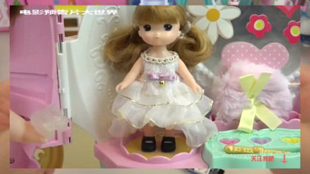 【宝宝玩具 玩偶 过家家】Princess baby doll Pumpkin carriage car and house play 过家
