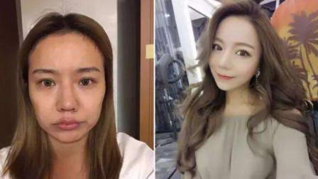 泰国人妖化妆前后对比,没化妆的真是面目,网友直言隔夜饭都出来了