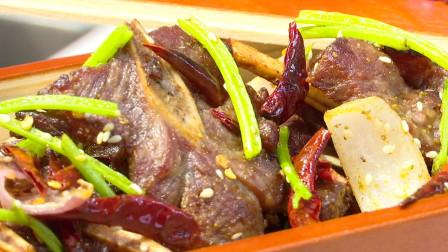 【大牌吃货】饭店的招牌菜原来做起来这么简单——香辣扇子骨