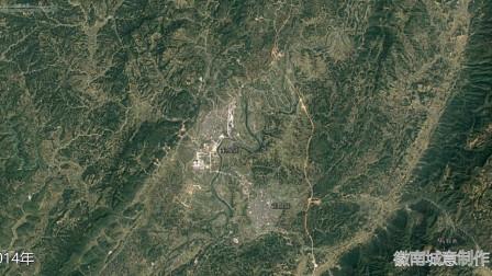 地图里看区域发展,湖北省来凤县与湖南省龙山县城市建设进程