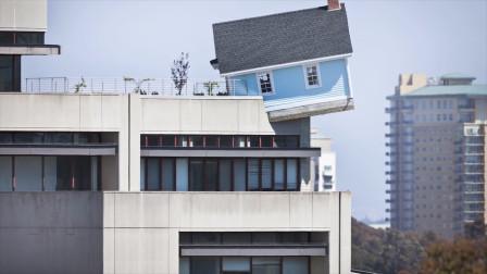世界上最危险的建筑,悬浮在半空中,能感受到房子在倾斜!