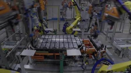 德国奥迪e-tron汽车生产线,比利时布鲁塞尔