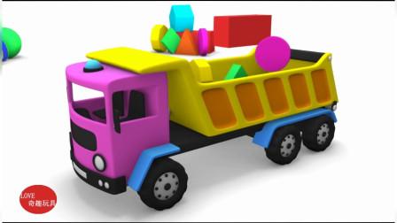 工程车大货车翻斗车组装拼装 工程车玩具组装益智游戏