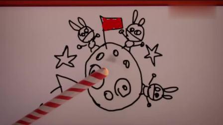 疯狂的兔子:红帽兔子想坐火箭去月球,兔子学生却只专注于吃吃吃