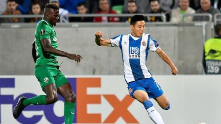 欧联杯-武磊首发抡倒俩人,普萨诺制胜球 西班牙人1-0升至小组第一