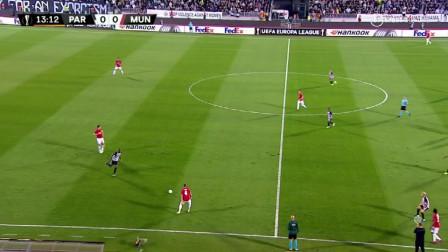 欧联杯,贝尔格莱德游击0:1曼联,马夏尔点射制胜