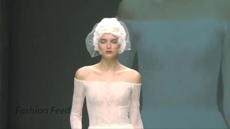 时装秀法国巴黎性感透明薄纱走秀小姐姐宛如仙女下凡真的太迷人