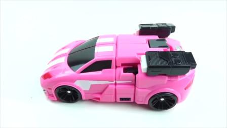 迷你特工队玩具开箱:露西的机甲玩具也要变身成机甲汽车了 是可爱的粉色