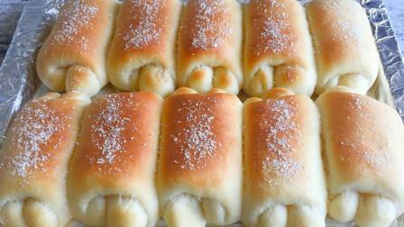 面粉别烙家常饼了,教你做牛奶卷,掌握和面技巧,又柔又软又拉丝