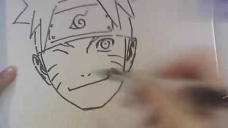 老师教你画《火影忍者》中的鸣人,简单易学,学着一起画吧